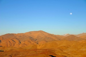 Moon Rises Over the Andes
